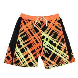 Nike Board Shorts Youth Boy's XL Orange Black Swim
